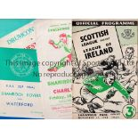 REPUBLIC OF IRELAND Eight programmes involving clubs from the Republic. Scottish League v League