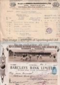 TOTTENHAM HOTSPUR An official large cheque 2/12/1925 with a scene from White Hart Lane at the top