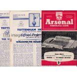 TOTTENHAM HOTSPUR 1960/1 Eleven programmes for the Double season including 10 homes v. Tbilisi