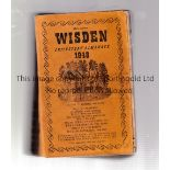 1948 WISDEN Official Softback Wisden 1948. Some damage on inside page at inner spine. Complete.