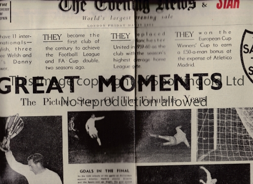 TOTTENHAM HOTSPUR Over 30 various newspapers covering domestic and European Cup runs 1961, 1962,