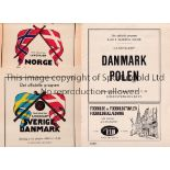 DENMARK Six home programmes: Norway 24/6/1956 and 29/6/1958, Sweden 6/10/1955, Holland 4/11/1956,