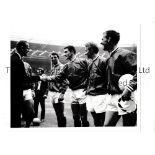 FOOTBALL PHOTOGRAPHS Nine various photographs: B/W including Tottenham v Arsenal in the mid-1960'