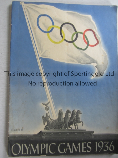 1936 OLYMPICS BERLIN Three Official Bulletins No. 9, 10 and 11. Generally good