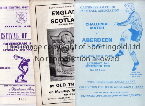 SCOTTISH MISCELLANY Thirty eight Scottish programmes 1957-1989 to include Rangers v Queen of the