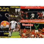 RAY CLEMENCE AUTOGRAPHS Six programmes signed on the line-up page: Charity Shield 1979 and 1980.