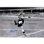 NEWCASTLE UNITED Five, 4 B/W and 1 colour autographed 12 x 8 photos of former players George
