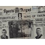 1931 FA CUP FINAL Full Birmingham Sports Argus newspaper for 25/4/1931 with the front page dominated