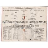 ARSENAL V TOTTENHAM HOTSPUR 1934 Programme for the League match at Arsenal 20/10/1934, folded, rusty