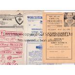 NON-LEAGUE FOOTBALL PROGRAMMES 1949/50 Twelve programmes: At Barry: Chris Mason's Benefit match,
