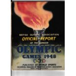 1948 OLYMPICS LONDON British Olympic Association Official Report, slightly worn, Athletic's