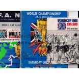 1966 WORLD CUP Four original items: Final programme England v West Germany, staples removed and very