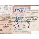 NON-LEAGUE FOOTBALL PROGRAMMES 1955/6 Thirteen programmes: Chorley v Bacup, Walthamstow v Bromley,