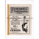 LIVERPOOL V NEWCASTLE UNITED / EVERTON RES. V PRESTON N.E. RES. 1930 Joint issue programme 21/4/