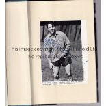 """JIMMY GREAVES SIGNED BOOK Signed hardback book with dust jacket """"This One's On Me"""" on a black &"""