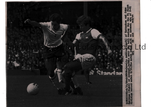 "ARSENAL V TOTTENHAM HOTSPUR Two B/W action Press photos at Highbury: 9"" X 7"" Paul Price and"