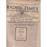 RADIO TIMES Seven issues of the Radio Times 1928-1954. 28/11/1928, 2/8 June 1946 (covers Victory Day