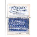 CHELSEA Home programme v Blackburn Rovers 27/8/1932. Ex Bound Volume. Generally good