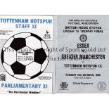 TOTTENHAM HOTSPUR Twenty nine home Reserve and Youth team programmes for season 1985/6. 21