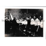 ENGLAND A hardbacked 1930 B/W photo of the England team being introduced to dignitaries before an