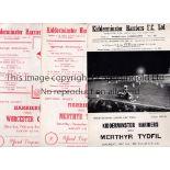 KIDDERMINSTER HARRIERS Nine home programmes for 1951/2 season v Merthyr Tydfil, Herefordshire Cup