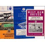 TOTTENHAM HOTSPUR 1960/1 Ten programmes from the Double Season. Home v. Aston Villa, Cardiff,