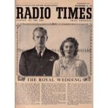 RADIO TIMES ROYAL WEDDING Radio Times dated 14/11/1947 covering the Royal Wedding of Princess