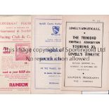NON-LEAGUE FOOTBALL PROGRAMMES 1953/4 & 1954/5 Eleven programmes: 1953/4 Lovell's v Trinidad