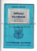 TOTTENHAM HOTSPUR AUTOGRAPHS 1964/5 Handbook signed inside by 19 players including Brown, Henry,