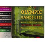 1952 OLYMPICS HELSINKI A complete set of 8 programmes for Athletics plus the British Olympic
