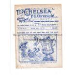 CHELSEA / NEWCASTLE Gatefold programme Chelsea v Newcastle United 18/1/1913. Fair to generally good