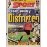 1999 CHAMPIONS LEAGUE FINAL Six items for Manchester United v Bayern Munich at Barcelona. Official