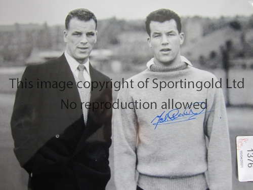 WALES Three, 2 B/W and 1 colour autographed 16 x 12 photos depicting superb images of former