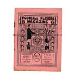 FOOTBALL PLAYERS MAGAZINE 1913 Issue dated September 1913, 16 page official magazine of the Players'