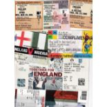 ENGLAND TICKETS Over 90 home Wembley tickets including 49 from 1950's - 1980's. 8 X 1950's inc.