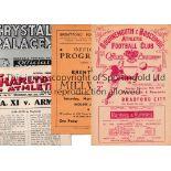 1940'S FOOTBALL PROGRAMMES Five programmes: Bournemouth v Bradford City 13/12/1947 FA Cup, team