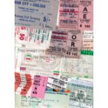 FOOTBALL TICKETS Sixty six assorted tickets 1968 to 2015 including Hungary v England 1988, West