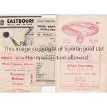 NON-LEAGUE FOOTBALL PROGRAMMES 1947/8 Ten programmes: Chelmsford City Res. V Tilbury, Chelmsford
