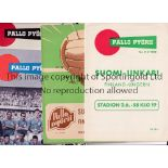 FINLAND Five home programmes: Sweden 10/6/1956 and 20/8/1958 including reports of the 1958 World