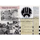 NEWCASTLE UNITED / TOMMY CATON AUTOGRAPHS 1985 Programme for Arsenal v Newcastle United 28/9/1985
