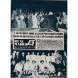 1956 EUROPEAN CUP FINAL Real Madrid v Stade de Reims played 13/6/1956 at Parc des Princes, Paris.