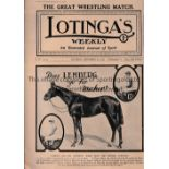 LOTINGA'S WEEKLY 1919 Magazine 10/9/1910 famous for pictures of sporting events including Racing and