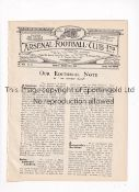 ARSENAL Programme for the home League match v West Ham United 23/3/1925, ex-binder. Generally good