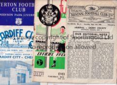 SUB-STANDARD FOOTBALL PROGRAMMES Twenty four programmes inc. Arsenal v Derby 46/7, Darlington v