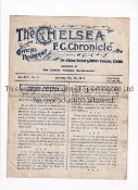 CHELSEA V WEST HAM UNITED 1918 Programme for the League match at Chelsea 4/5/1918. This was a