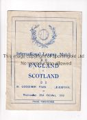FOOTBALL LEAGUE V SCOTTISH LEAGUE AT EVERTON 1936 Programme for the Inter-League match at Goodison