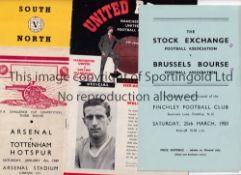 FOOTBALL PROGRAMMES Thirteen programmes including Plymouth v Watford 57/8 FA Cup, Div. III South v