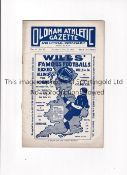 OLDHAM ATHLETIC V EVERTON 1912 Programme for the League match at Oldham 17/2/1912, team changes