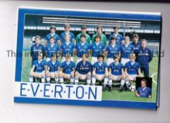 1984 FA CUP FINAL / EVERTON / WATFORD / AUTOGRAPHS Programme signed inside by 7 Everton on their
