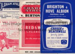 FOOTBALL PROGRAMMES 1955/6 SEASON Thirty seven programmes including Brighton v Shrewsbury,